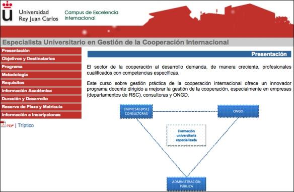 cideal presenta curso de gestión de la cooperación URJC